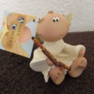 Kirk's Kritters Angel Cheeks Flute Figurine by Russ