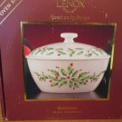Lenox Holday Small Casserole 2 Qt Holly design
