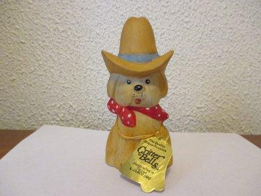 Vintage Critter Bells Cowboy Dog 1980 Jasco