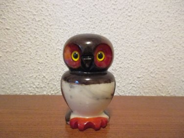Vintage Alabaster Owl Figurine made in Italy 1980