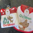 Carter's Precious Firsts My First Christmas 9 month bodysuit and bib