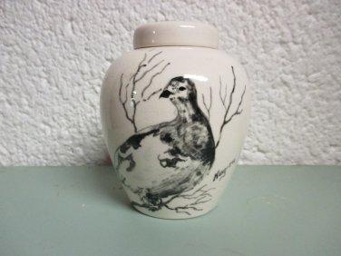 Bering Sea Originals hand painted small ginger jar