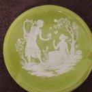 Florentine Porcelain greek man and woman ashtray