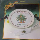 Kanesho Porcelain Christmas Tree Cake Plate with Server
