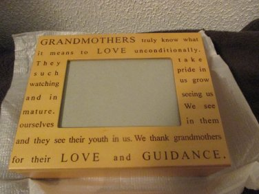 Grandmothers Love Wooden Photo Jewelry Box