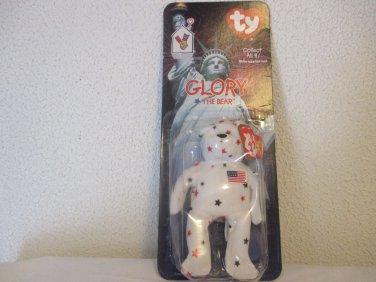 TY Glory the Bear plush stuffed Beanie Babies