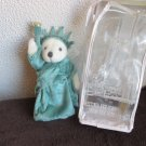 NY Teddy Lady Liberty stuffed plush teddy 1997