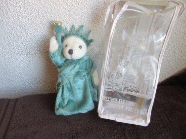 NY Teddy Lady Liberty stuffed plush teddy 1997