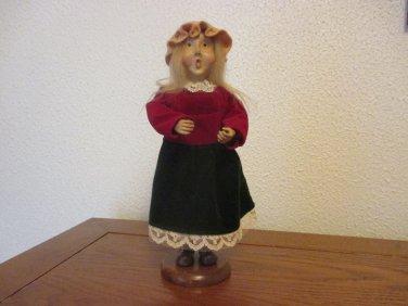 Victorian Girl Christmas Caroler
