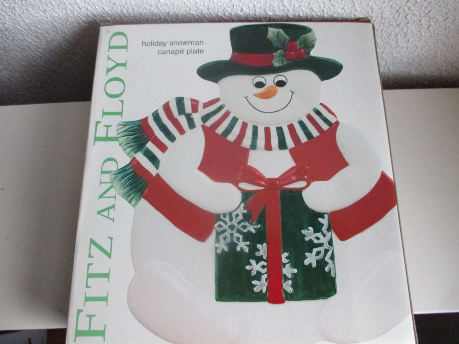 Fitz and floyd holiday snowman canape plate for Fitz and floyd canape plate