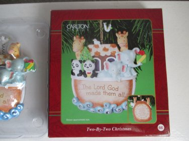 Carlton Cards Two By Two Christmas Ornament