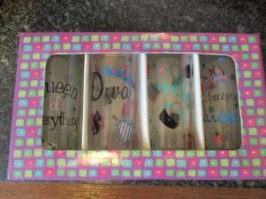 Girlfriends set of 4 shot glasses