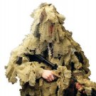 New M/L Desert Ultimate Game 3D Leaf Camo Hunting Ghillie Suit 5 Piece