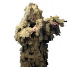 New XL/XXL Desert Ultimate Game 3D Leaf Camo Hunting Ghillie Suit 5 Piece