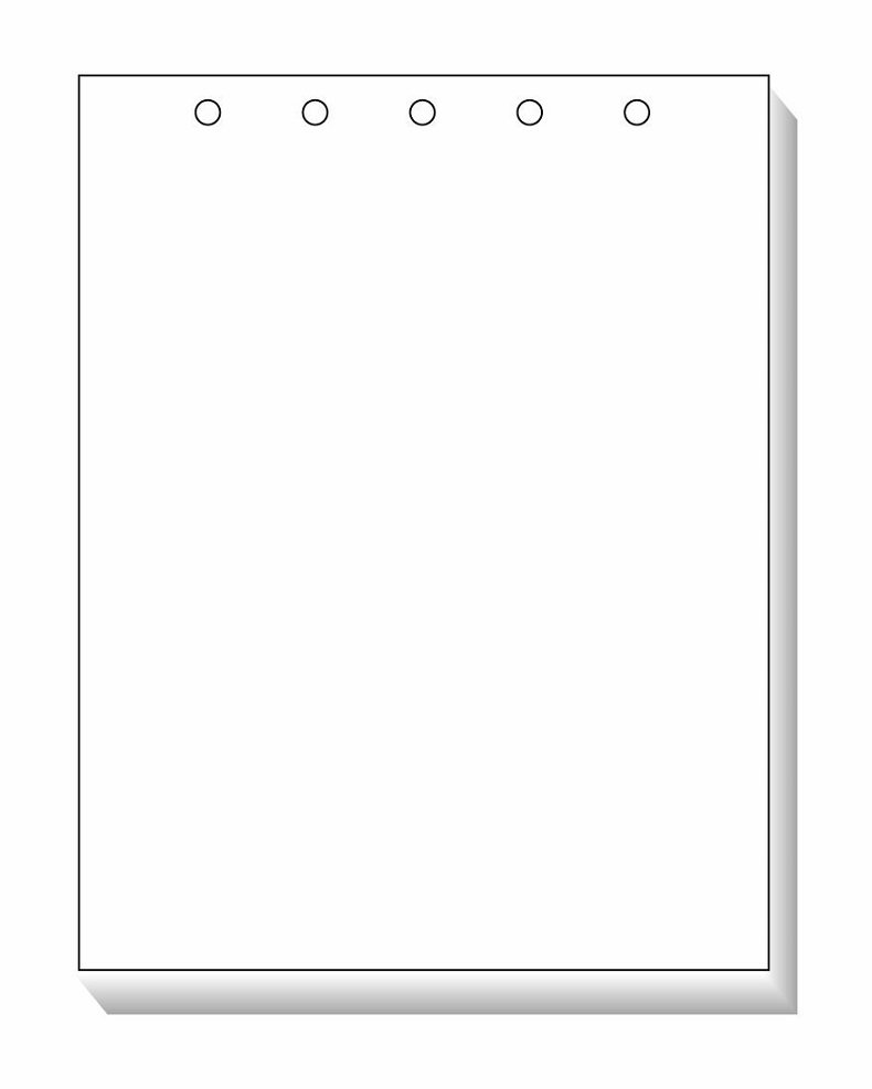 TOPS Laser Cut Sheet Paper, 5-Hole Punched, Top, 8.5 x 11 Inches, 500 Sheets, White (05080)