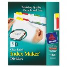 Avery Index Maker Clear Label Dividers, 5-Tabs, 1 Set (11406)