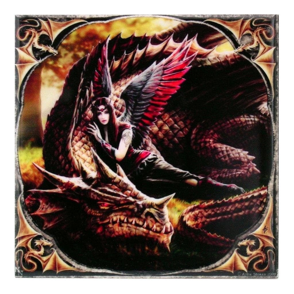 """ANN STOKES Winged Companions Art Tile 4""""x4"""" 99014 BY ACK"""