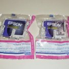 Lot of 2 Genuine Epson T0333 Magenta Ink Cartridges T033320 Stylus Photo 960