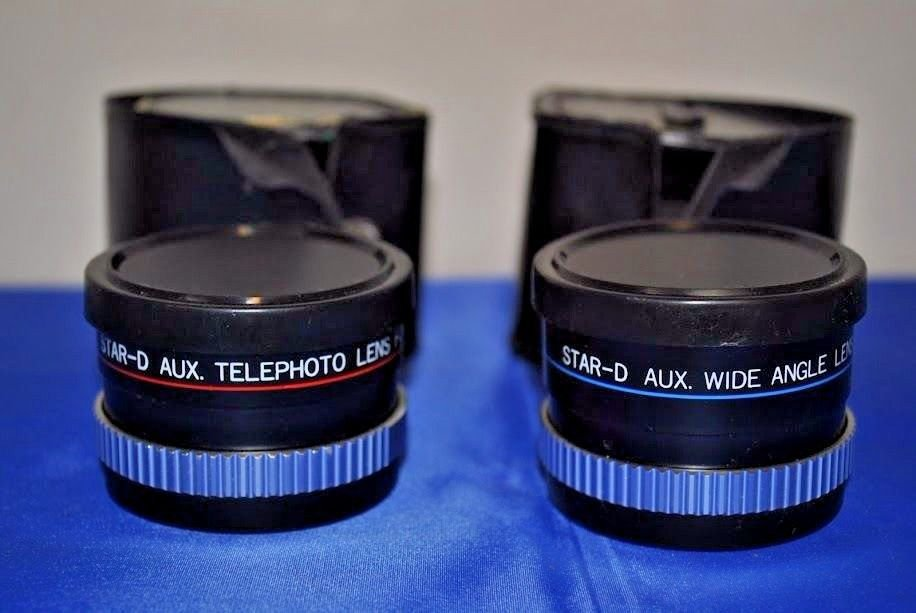 PAIR OF STAR-D AUX. WIDE ANGLE LENS & TELEPHOTO LENS for AF35MII