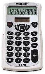 Victor® 1170 Handheld Business Calculator w/Slide Case, 10-Digit L