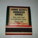 1960's Frontstrike matchbook Flying A Service Unstruck Placerville Associated