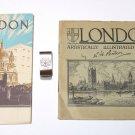 LONDON Lot ILLUSTRATED IN PENCIL VINTAGE SOUVENIR BOOK R.H. PENTON & Money Clip