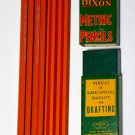 12 New Vintage NOS Dixon Metric 1910-3H Drafting Pencils w Original Box unused