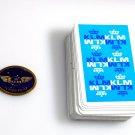 KLM Airlines Metal badge 1 Junior Pilot & deck of 52 playing cards VINTAGE