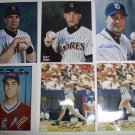 San Diego Padres Autographed 8x10 Photos Lot of Six Andy Benes MLB Baseball AUTO