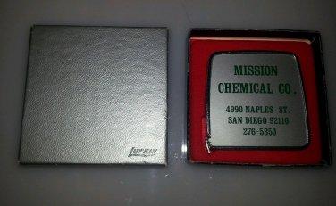 Lufkin Vintage San Diego Mission Chemical NOS unused Advertising tape measure
