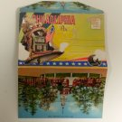 Vintage Mount Philadelphia Pennsylvania 1940's Lithograph foldout Postcard