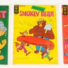 Lot of 3 Vintage Gold Key Comics Scooby-Doo, Smokey Bear, Top Cat 15 cents
