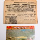 Virginia City Nevada Souvenirs Color Booklet and Old Newspapers from 1961