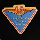 Scandinavian Airlines System Label NOS VINTAGE Aviation Norway Sweden Denmark
