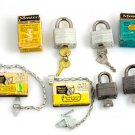 Lot Master PadLock Secret Service No.1 + No. 500 w/ Keys & Boxes + Chain No.70D