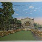 "10"" x 7"" JUMBO POSTCARD San Diego Balboa Park Linen Post Card Spreckels Organ"