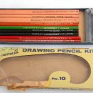 NOS General's Drawing Pencil NO. 10 Charcoal Kit General Pencils Vintage EAGLE