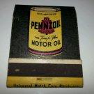 1960's Frontstrike matchbook Pennzoil Unstruck vintage Pennsylvania motor oil