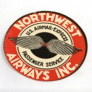 Early Vintage Northwest Airways Inc. Unused Luggage Baggage Label Airmail