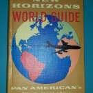 Pan Am New Horizons World Guide Pan American Travel Facts 1959-1960 1st Printing