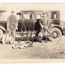 Vintage 1930s Original Photo Pheasant Bird Hunting Photograph Old Cars Guns Hunt