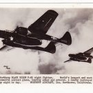 1944 Vintage P-61 Black Widow Fighter Photo Postcard RPPC RARE Postmarked WW2