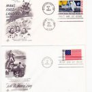 1969 Apollo 11 First Day Cover Stamp Envelope Moon Landing Armstrong 1st Issue