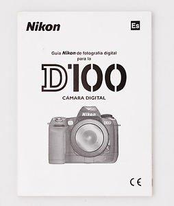 Nikon D100 Digital Camera OEM Owner's Instruction Manual Spanish Version New