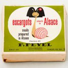 Escargots Snails prepared in Alsace France Strasbourg in Box - RARE - F. Feyel