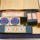 Johnson & Johnson First Aid Kit tin No. 16 box w/ Mercurochrome Glass bottles