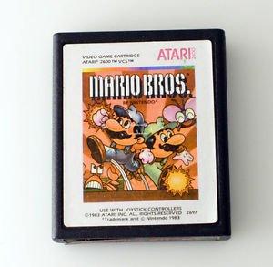 Mario Bros. Video Game Cartridge for Atari 2600 VCS 1983 Orange label Nintendo
