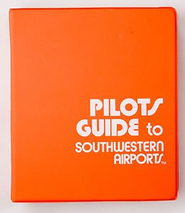 Pilots Guide to Southwestern Airport  Orange Binder for Airplane Pilot Aviation