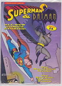 SUPERMAN & BATMAN MAGAZINE #1 - 1993 DC COMICS - FACTORY SEALED PREMIERE ISSUE