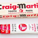 1955 Craig-Martin Tooth Paste Tube In Original Box Toothpaste Milk of Magnesia